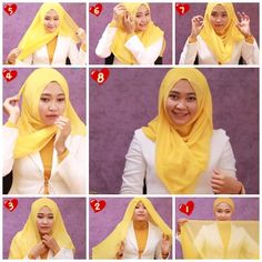 Hijab Tutorial on Pinterest | Hijab Tutorial, Pashmina Hijab Tutorial ...