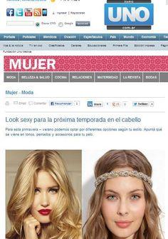 Diario Uno  Nota sobre tendencias en cabello (Septiembre de 2012)