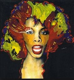 Donna Summer by Antoni Azocar Famous Singers, Music Icon, Paint Designs, Black Art, Fan Art, Drawings, Illustration, Caricatures, Painting