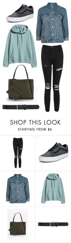 """""""Con-denim-ed"""" by rawrawdino ❤ liked on Polyvore featuring Topshop, Vans and M&Co"""