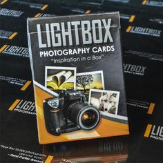 The Lightbox Photography Cards  A Series of 4 decks   *Photography Cards  *Mobile Edition  *Macro Edition   *Wedding Edition (which we will not be using)