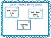 Ocean Themed Library Labels product from Ms-Chrissy-Bs on TeachersNotebook.com