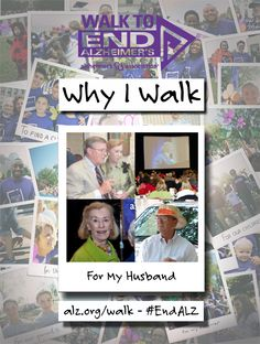 Fran Walks to #ENDALZ for her husband. Read her story at https://alzgrva.wordpress.com/2015/08/05/why-i-walk-fran-zehmer/ You can now register for the 2015 Walks to End #Alzheimers! Northern Neck – Middle Peninsula; Saturday, September 19th; Fredericksburg; Saturday, September 26th; Richmond Walk to End Alzheimer's; Saturday, November 7th. Register at www.alz.org/walk #dementia #RVA #CentralVirginia #caregiver