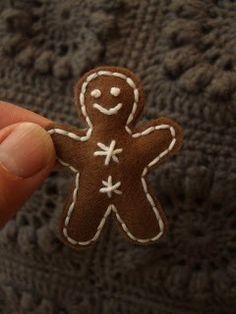 Felt gingerbread men.