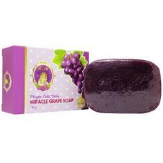 ส่งทุกตำบลK&K Beautiful Miracle Grape Soap สบู่องุ่น ขนาด 120 กรัม (1ก้อน)+เสนอสินค้าโปรโมชั่น