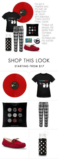 """Migraine by Twenty-one Pilots"" by ticci-toby ❤ liked on Polyvore featuring DKNY, UGG Australia, Kate Spade and Singtome"