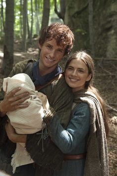 Eddie Redmayne as Jack Jackson and Hayley Atwell as Aliena in The Pillars of the Earth