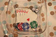 cast resin poker chip bowl