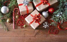 Scarica sfondi Natale, regali di natale, confezioni regalo, capodanno, albero di Natale