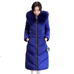 ab6d4419ff8 7XL Thicker Big Fur collar Plus Size Winter Coat Down Jacket Womens 2018  Long Cotton Female Jackets Parkas manteau femme hiver-in Parkas from Women's  ...
