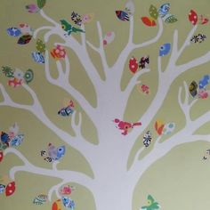 Tree mural close up