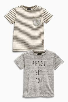 Buy Two Pack Ready Set Go Tops (3mths-6yrs) from the Next UK online shop