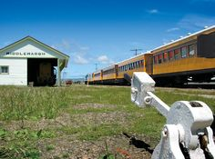 The Middlemarch Railway Station goods shed.  The train travels to Middlemarch weekly in winter and twice weekly in summer.  Middlemarch is the starting/ending  point of the Otago Central Rail Trail.