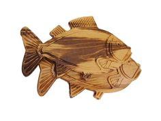 Tábua de Carne artesanal em madeira em forma de Peixe - Tudo para boteco