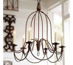 pottery barn Armonk Chandelier $399 ...identical light at William Sonoma Home French Country Inn Chandelier for 1595.00