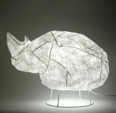 opblaasbare neushoorn lamp