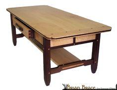 Hand Crafted Greene And Greene Coffee Table (Birdseye Maple And Walnut) by Brian Brace Fine Furniture | CustomMade.com