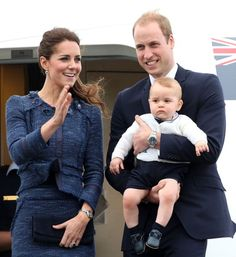 Catherine, Duchess of Cambridge along with Prince William, Duke of Cambridge and Prince George