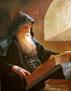 m Sage wizard Magic Books library urban Artist Andrey Shishkin (Russia, - Hermit in his cell. Character Portraits, Character Art, Character Design, Fantasy Wizard, Fantasy Art, Dungeons And Dragons, Wow Art, Deviant Art, Russian Art