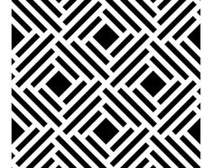 Moroccan Double Large Wall stencil pattern, Moroccan Stencil and Geometric stencil for DIY project - wall stencils - Moroccan Design Wall Stencil Patterns, Tile Patterns, Pattern Art, Pattern Design, Print Patterns, Large Wall Stencil, Large Stencils, Needlepoint Patterns, Zentangle Patterns