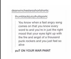 That song is the perfect example!!