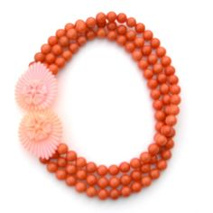 O is for Orange (and Pink) | Hence, our delight at discovering this pale pink buckle on a recent vintage adventure, knowing we had the melon quartz strands waiting at the studio.  A perfect pair!
