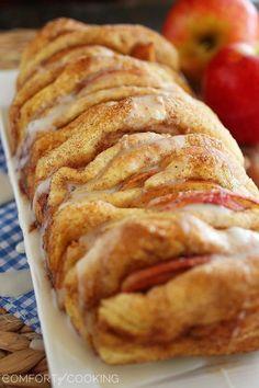 Apple Pie Pull Apart Bread with Vanilla Glaze