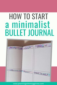 Starting a Minimalist Bullet Journal has Never Been Easier Making A Bullet Journal, Bullet Journal Index, Bullet Journal Tracker, Bullet Journal How To Start A, Bullet Journal Junkies, Bullet Journal Spread, Bullet Journal Layout, Bullet Journal Inspiration, Bullet Journals