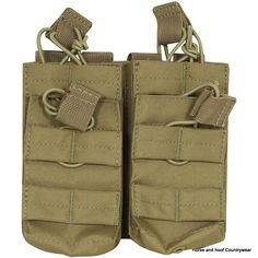 Viper Double Duo Mag Pouch - Coyote The Viper Duo Mag Pouch enables the user to stack magazines on most MOLLE panels The 600D Cordura enhances the smooth fuctionality