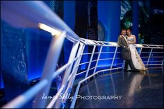 Our happy couple enjoying a moment in our Oceans gallery #Dynamicearth #Weddingvenue #Different #Special #Oceansgallery #Bride&Groom