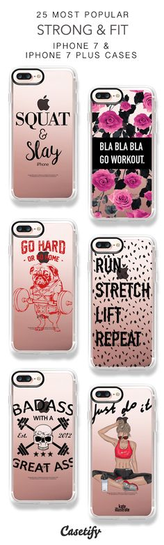 25 Most Popular Strong & Fit Protective iPhone 7 Cases and iPhone 7 Plus Cases. More Workout iPhone case here > https://www.casetify.com/collections/top_100_designs#/?vc=FFLjhNy2qC