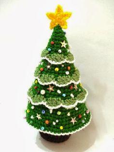 Christmas tree; Árvore de Natal em Crochê