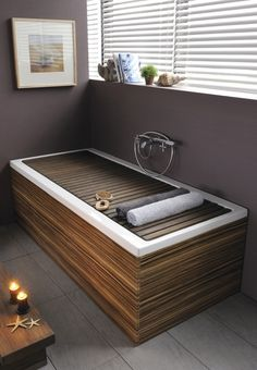 Attrayant Love The Idea Of A Tub With A Rolling Off Cover!