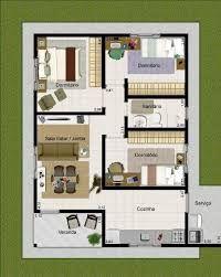 Plano de casa moderna de 3 dormitorios en 3d casa for Casa moderna 80m2