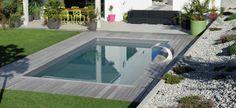 Reportage photo piscine rectangulaire en Suisse