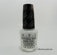 O.P.I Glitter Off peel-off base coat. This product could be practically life-changing!!