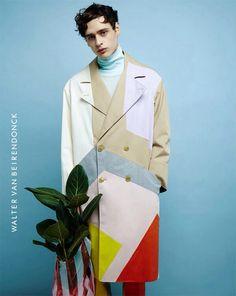 Colored coat Walter Van Beirendonck