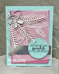 Canopy Crafts - Nance Leedy SU Christmas Pines, Pretty Pines thinlits, Pine Bough EB