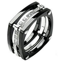 Stunning Brilliant Cut CZ Art Deco Engagement Ring | Pretty ...