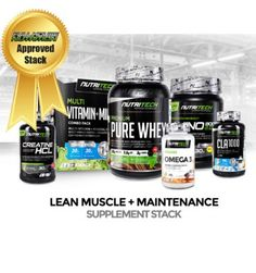 LEAN MUSCLE + MAINTENANCE STACK @ http://fullhousenutrition.co.za/stacks/1464-lean-muscle-maintenance-stack.html