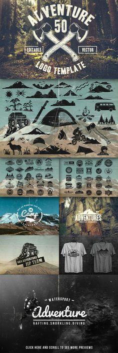 50 Retro Adventure Logo – Creativemarket 152201 » DenGFX.Com – Graphic For Life – Premium and Free Stuff For Creative Design