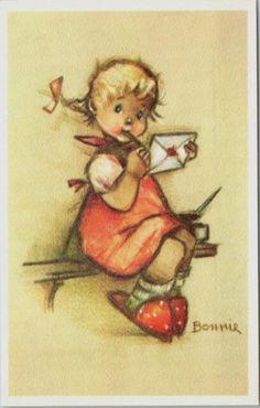 """""""Bonnie"""" Alfred Mainzer  postcard"""