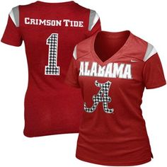 Nike Alabama Crimson Tide Ladies Premium Football Replica T-Shirt - Crimson