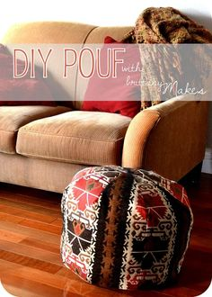 DIY poufs...table, seat...gorgeous and versatile! I must try... this one.