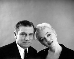 Marilyn Monroe and Laurence Olivier. Photo by Milton Greene, 1956.