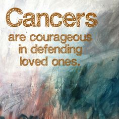 Cancer zodiac sign ♋Zodiac Signs ~ there's something to it...