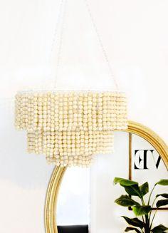 DIY con bolas de madera, decoración natural