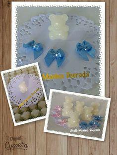 Mini ursinhos em sabonete artesanal!!! Ótima lembrancinha para chá de bebê, nascimento e aniversário!!! Exclusividade no Ateliê Menina Dourada!!