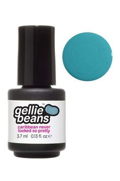 @HauteLook $6.50 Gellie Beans Brand Gel Nail Polish Color in Caribbean Never Looked So Pretty (light teal creme)