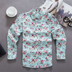 1.Top&Tees Blouse Shirt Dress for Women(Chic Floral Flower Print All Over) 2.This Shirt Featuring Female Slim Fit,Long Sleeve,Floral Flower Design,Button Down Closure,Straight Turn Down Rounded Collar,Convertible Cuff 3.Designed for Ladies Daily and Work Wear,Casual Dress,Formal,Business,Party,School,Outdoor Sports,Office Uniform for Women